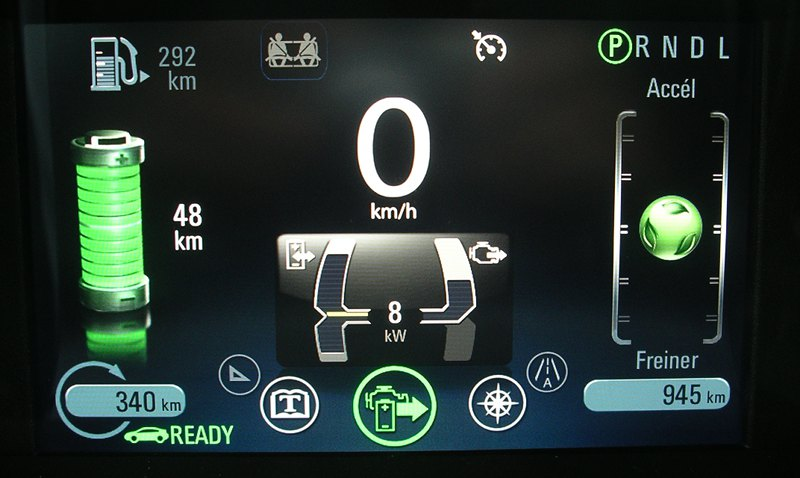 Flux d'énergie Opel Ampera 2013