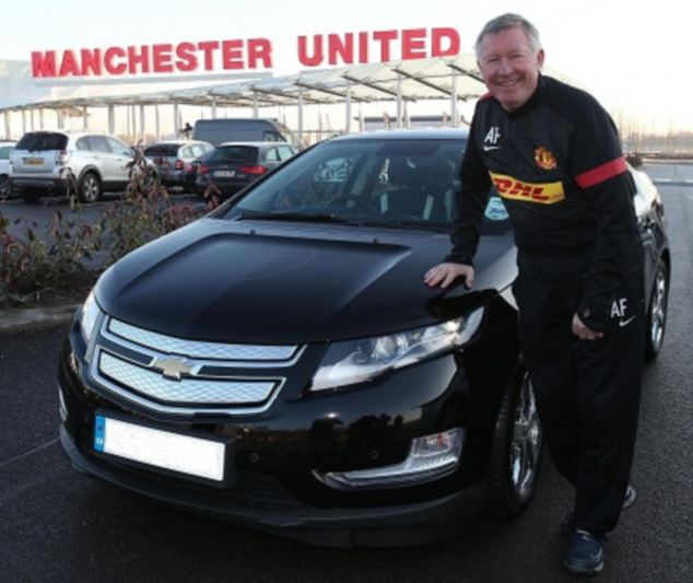 Sir Alex Fergusson et sa Chevrolet Volt