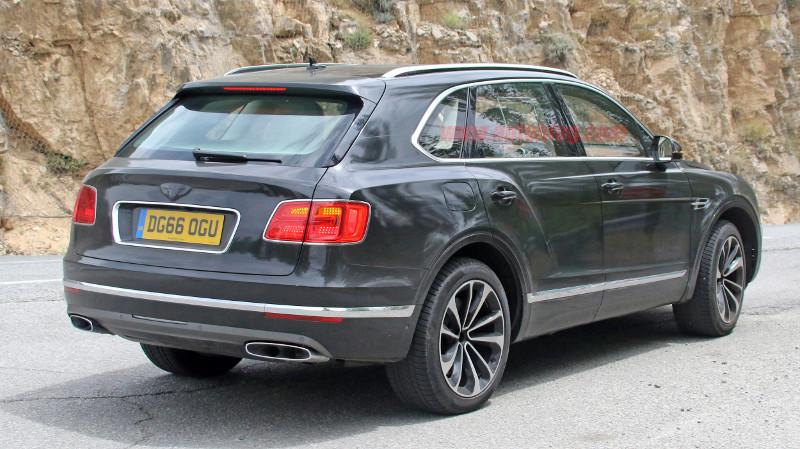 Bentley Bentayga proto hybride rechargeable