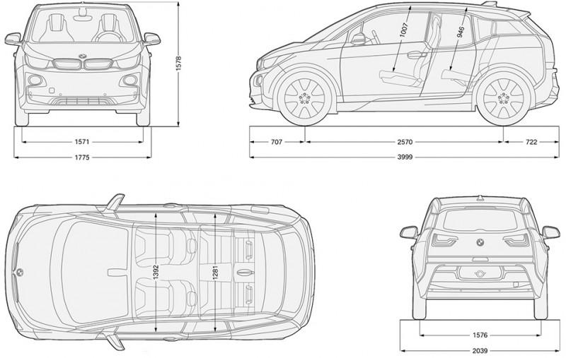 dimensions BMW i3