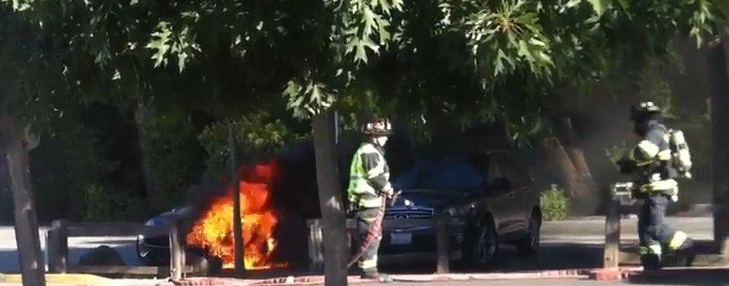 Fisker Karma en feu