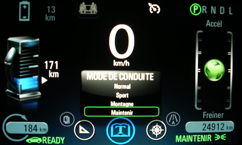 Mode maintenir Opel Ampera