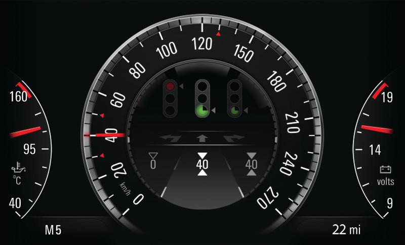 Car-to-X Opel Insignia feu tricolore
