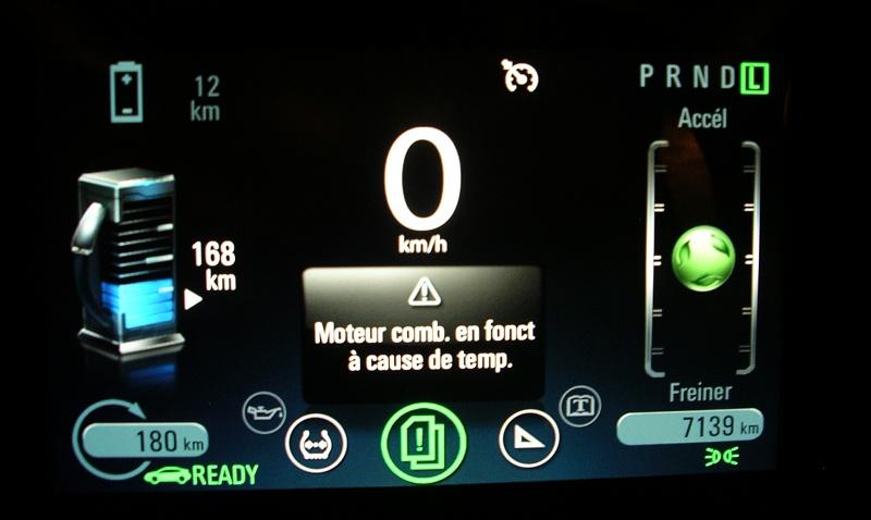 Opel Ampera Chevrolet Volt démarrage thermique à cause du froid