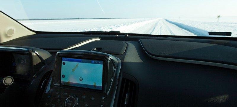 GPS d'Opel Ampera sur la glace
