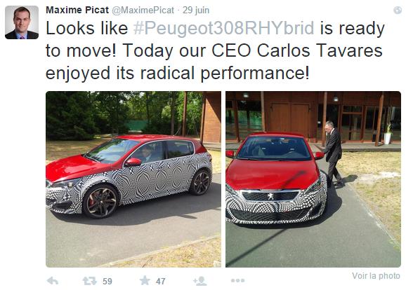 Peugeot 308 R Hybrid - Carlos Tavares
