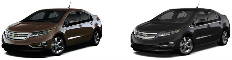 Chevrolet Volt Brownstone et Ashen Gray