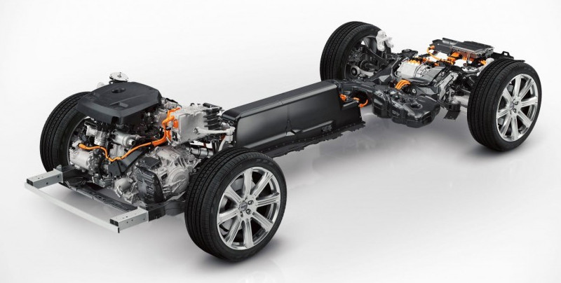 Chassis Volvo XC90 Plug-In Hybrid Twin Engine T8
