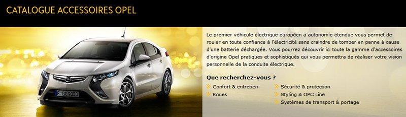accessoires Opel Ampera