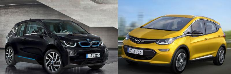 BMW i3 Opel Ampera-e