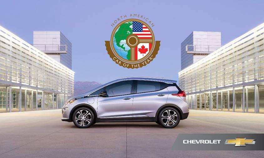 Chevrolet Bolt voiture de l'année