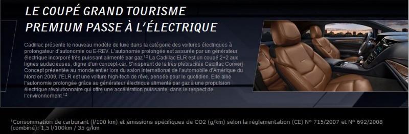 Consommation Cadillac ELR