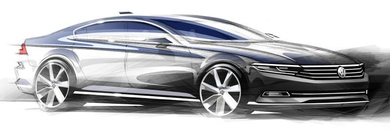 Croquis Volkswagen Passat 2014