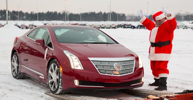 Livraison Cadillac ELR père Noël