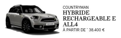 Prix Mini Countryman hybride rechargeable