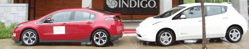 Chevrolet Volt et Nissan Leaf